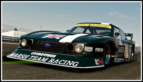 A close up photo of the amazing Ford Capri Touring Car